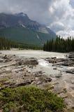 Athabasca Wasserfall Stockfotos
