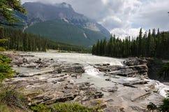 Athabasca Wasserfall Stockbilder