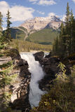 Athabasca waterfalls. Hidden view of the Athabasca waterfalls in the Jasper national park,Alberta,Canada royalty free stock image
