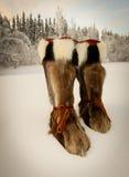 athabascan эскимосское muk luks стоковая фотография rf