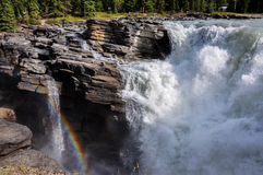 Athabaska falls Rockies, Alberta, Canada Stock Photos