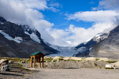 Athabaska Glacier on Icefield Parkway in all it's splendeur, Alb Stock Images