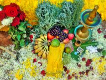 Atham Pooja. Atham flower decoration pooja. Festival of Kerala India Royalty Free Stock Photo