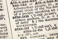 Atheism atheist godless definition dictionary. Atheism atheist godless dictionary definition book agnostic royalty free stock photo