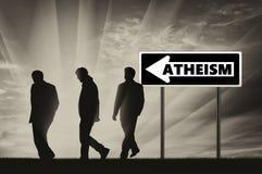 Atheism. Atheists Three men Stock Images