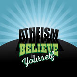 Atheism believe in yourself design.  Stock Photography