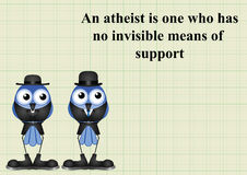 Atheism saying Royalty Free Stock Images