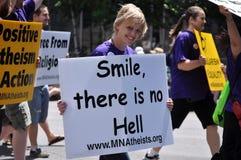 Atheist in einer Parade Lizenzfreie Stockbilder