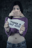 Atheist teenage girl kidnapped Stock Images