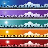 Athelete Banner Set Royalty Free Stock Photos