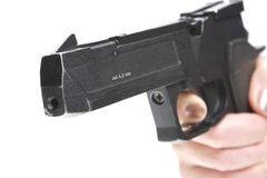 Atheletic Weapon. In Hand, Gun, Finger Royalty Free Stock Images