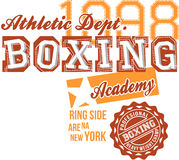 Atheltic Boxing text design Royalty Free Stock Images