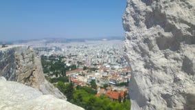 Athen от верхней части на празднике летом стоковые изображения
