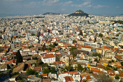 Athen. The capital of Greece seen from the Acropolis Hill Stock Images