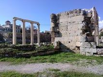 Athen-Agora Stockfoto