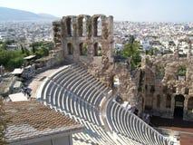 Athen-Amphitheater Stockfotos