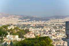 Athen. Ansicht der Stadt von der Akropolise Lizenzfreie Stockbilder