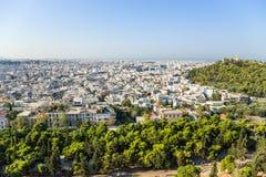 Athen. Ansicht der Stadt von der Akropolise Lizenzfreie Stockfotografie