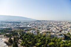 Athen. Ansicht der Stadt von der Akropolise Stockbilder