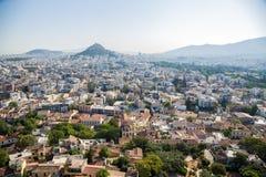 Athen. Ansicht der Stadt von der Akropolise Stockfotos