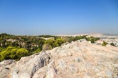 Athen. Ansicht von Areopagus Stockbild