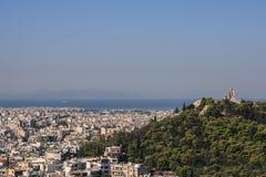 athen Ansicht von der Akropolise lizenzfreie stockfotos
