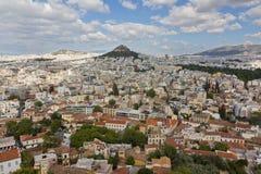 Athen-Ansicht von der Akropolise Lizenzfreie Stockfotos