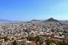 Athen-Ansicht von der Akropolise Griechenland Stockbild