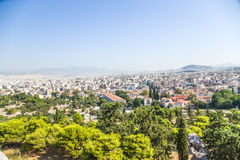 Athen. Ansichtstadt von Areopagus Lizenzfreie Stockbilder