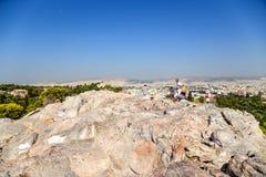Athen. Ansichtstadt von Areopagus Lizenzfreie Stockfotografie