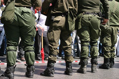 Athen-Aufstände, Kursteilnehmer sammeln, 2006 lizenzfreies stockbild
