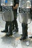 Athen-Aufstände, Kursteilnehmersammlung, 2006 stockfotografie