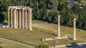 Athen-cityscapeï ¼ ˆTemple von Zeusï-¼ ‰ Stockbilder