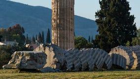 Athen-cityscapeï ¼ ˆTemple von Zeusï-¼ ‰ Lizenzfreies Stockfoto