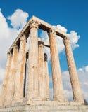 Athen - das Olympieion Stockfotos