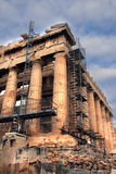 Athen, Griechenland - Geschichte repariert, der Parthenon Lizenzfreies Stockbild