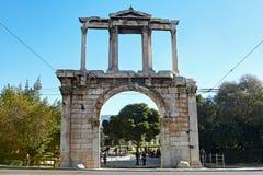 ATHEN, GRIECHENLAND - 1. JANUAR 2018: Adrianou-Tor in Athen, Greec Lizenzfreies Stockbild