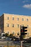 ATHEN, GRIECHENLAND - 19. JANUAR 2017: Das griechische Parlament in Athen, Griechenland Lizenzfreie Stockbilder