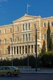 ATHEN, GRIECHENLAND - 19. JANUAR 2017: Das griechische Parlament in Athen, Griechenland Lizenzfreies Stockbild