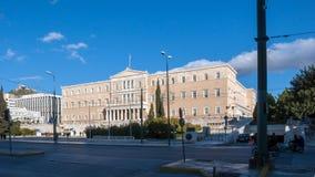 ATHEN, GRIECHENLAND - 19. JANUAR 2017: Das griechische Parlament in Athen, Attika Lizenzfreies Stockbild