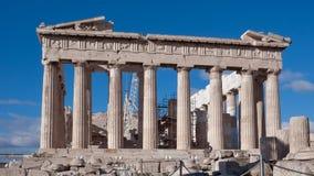 ATHEN, GRIECHENLAND - 20. JANUAR 2017: Der Parthenon in der Akropolise von Athen Stockfoto