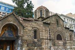 ATHEN, GRIECHENLAND - 20. JANUAR 2017: Kirche von Panaghia Kapnikarea in Athen Lizenzfreie Stockfotografie