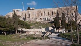 ATHEN, GRIECHENLAND - 20. JANUAR 2017: Panorama der Akropolises von Athen, Attika Lizenzfreies Stockfoto