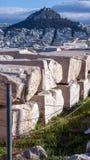 ATHEN, GRIECHENLAND - 20. JANUAR 2017: Panoramablick von Akropolis zu Stadt von Athen, Stockbilder