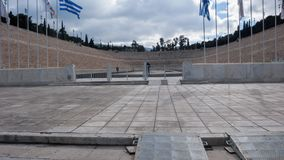 ATHEN, GRIECHENLAND - 20. JANUAR 2017: Stadion oder kallimarmaro Panathenaic in Athen Stockbild