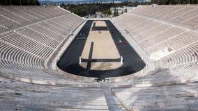 ATHEN, GRIECHENLAND - 20. JANUAR 2017: Stadion oder kallimarmaro Panathenaic in Athen Stockbilder