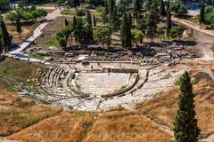 ATHEN, GRIECHENLAND - JUNI 2011: Ruinen von thetre von Dionysus Lizenzfreie Stockfotos
