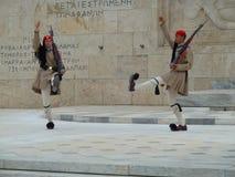 Athen-hoch-Tretenändern des Schutzes Lizenzfreie Stockfotografie