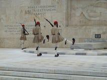 Athen-Monument - Ändern des Schutzes Stockfotografie
