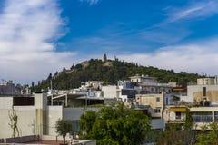Athen, Monumenttagesansicht und -Stadtbild Griechenlands Philopappos Stockfotos